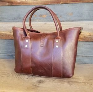 J.W. Hulme Medium brown Leather Market tote USA